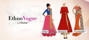 Designed by our EthnoStylists Lia Lincy, Madhu Manjari and Dolly Bhorwani