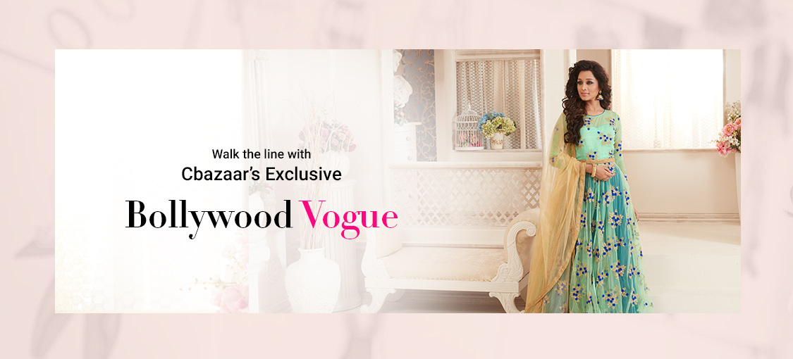 Walk the line with Cbazaar's exclusive Bollywood Vogue