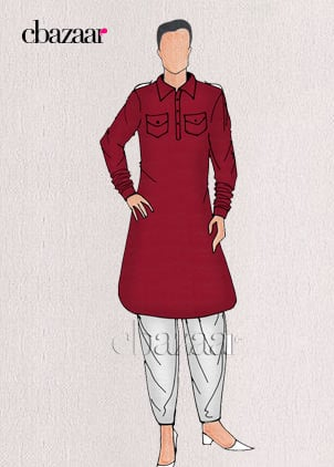 Pathani Sets with white dhoti style pants