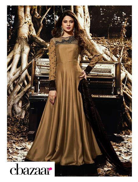 Abaya Style Anarkali Suit
