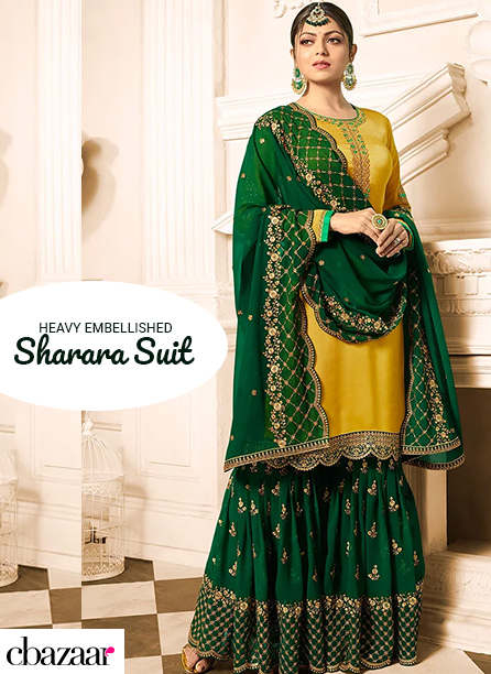 Heavy Embellished Sharara Suits