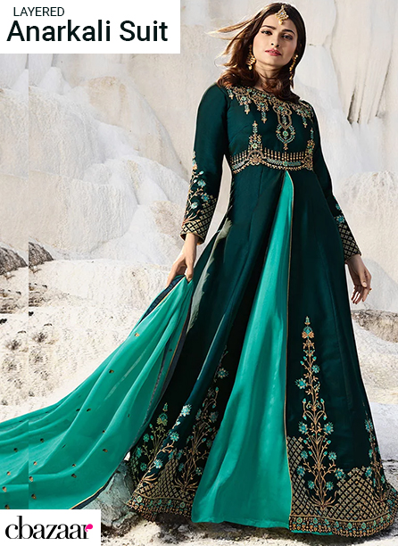 Layered Anarkali Suits