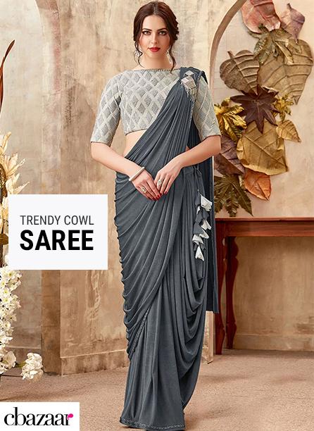 Trendy Cowl Sarees