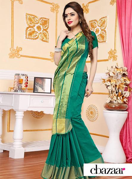 green-art-silk-saree