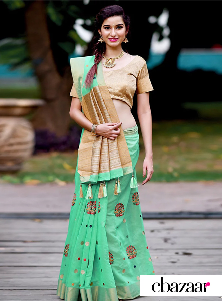green-art-benarasi-silk-saree