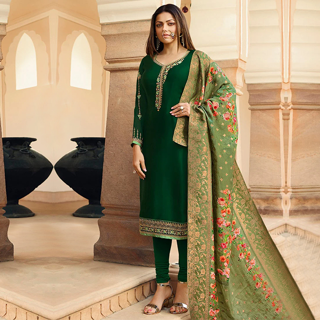 Georgette Churidar Suit with Embroidery