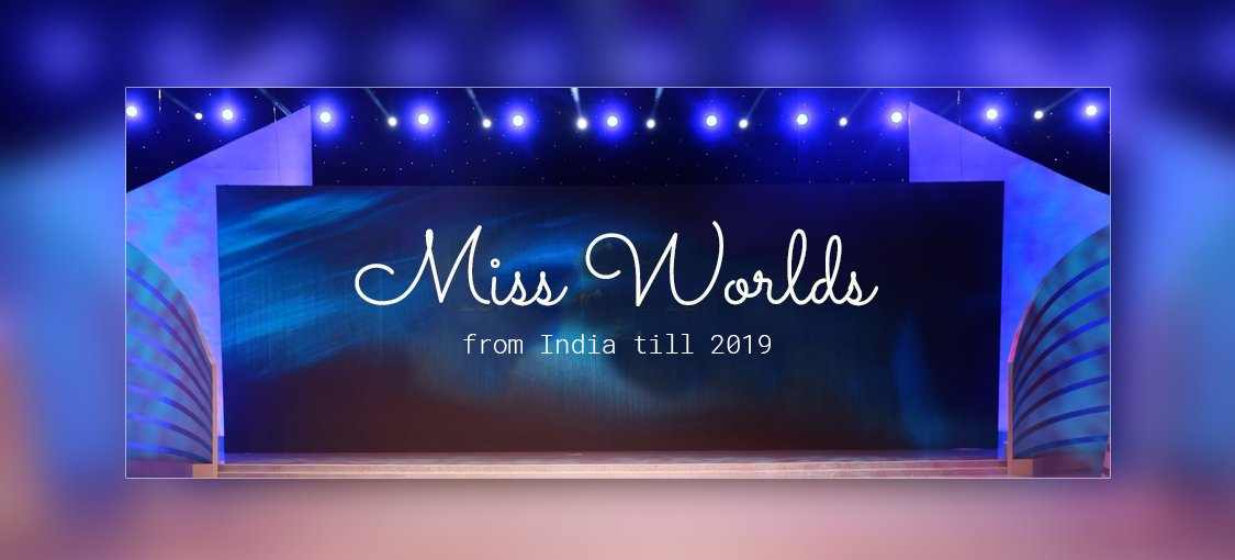 Miss World From India Till 2019