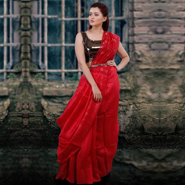 Red Matka Silk Saree