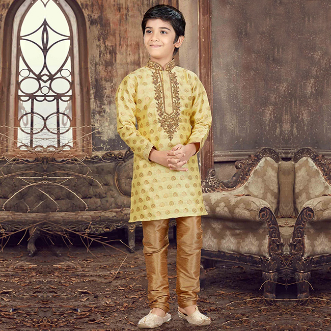 cheese yellow kurta pajamas