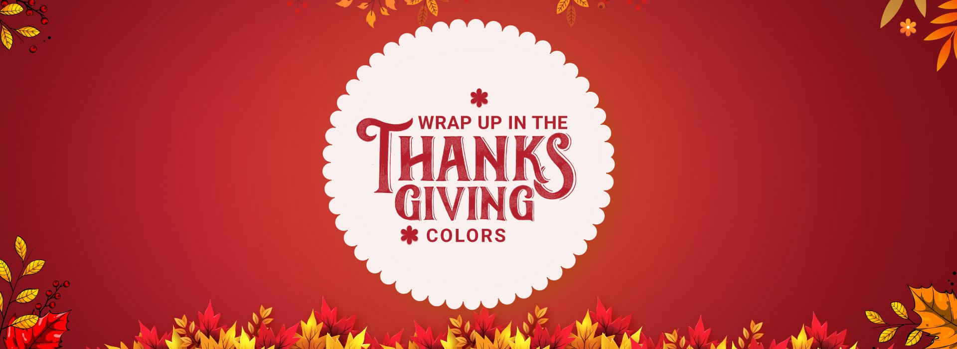 Wrap up in the Thanksgiving colors