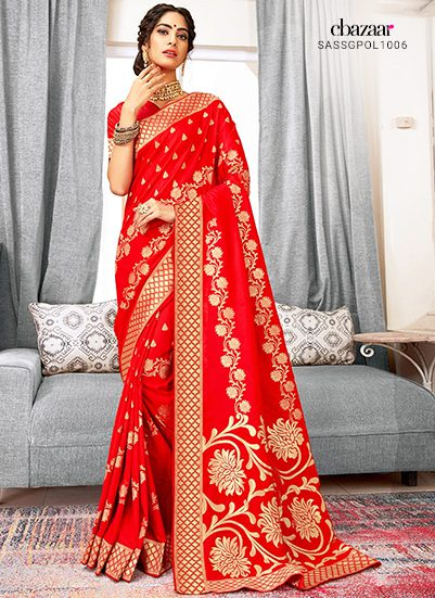 Red Benarasi Saree