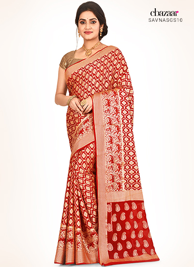 Pure silk sarees in Red