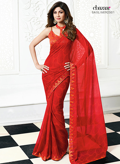 Celebrity inspired Red sarees