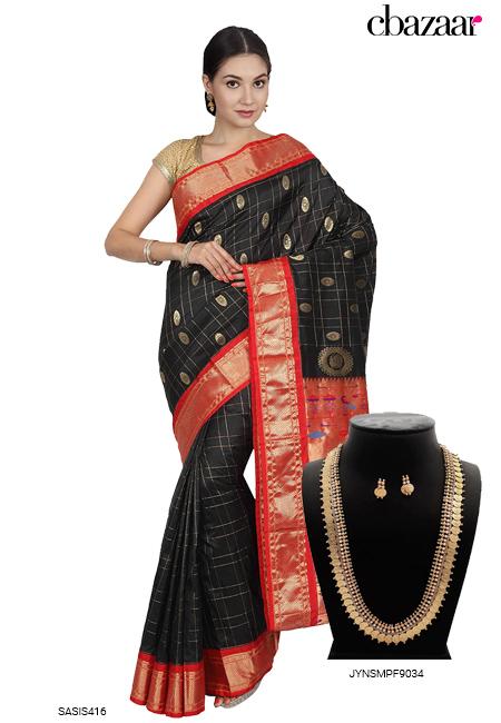 Handloom Black Saree