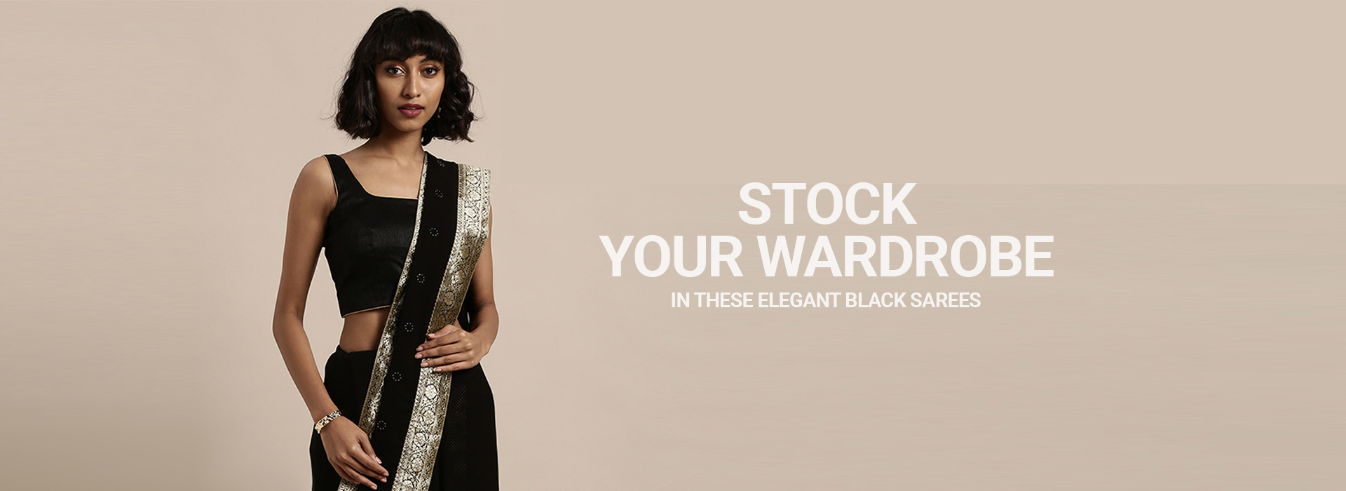 Stock Your Wardrobe in These Elegant Black Sarees