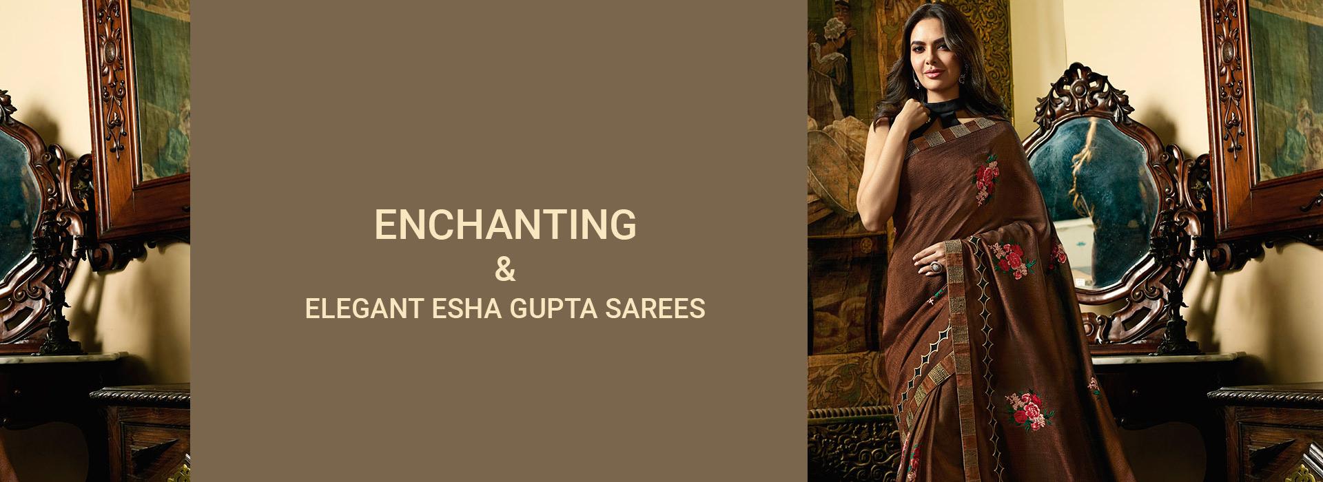 Enchanting and Elegant Esha Gupta Sarees