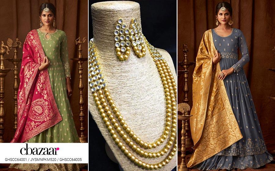 Banarasi Lehenga Gown