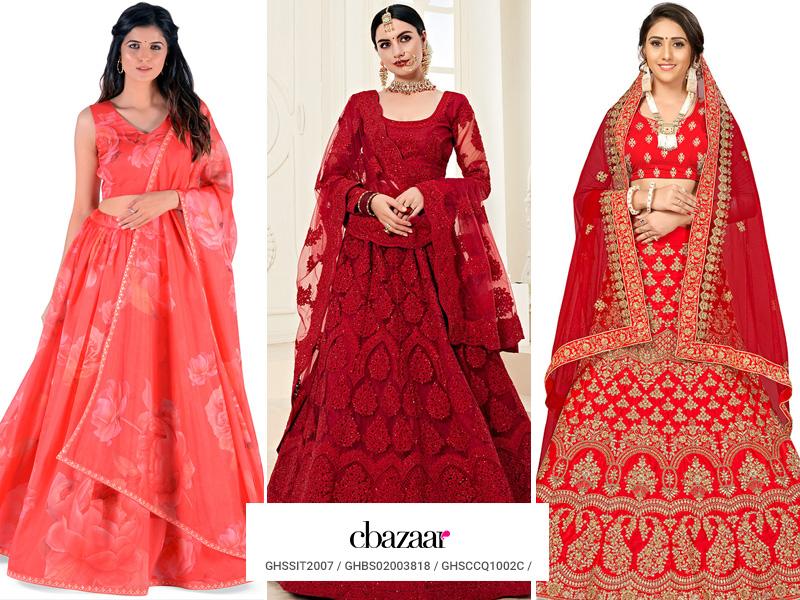 Indian Bride's - Scarlet Lehengas