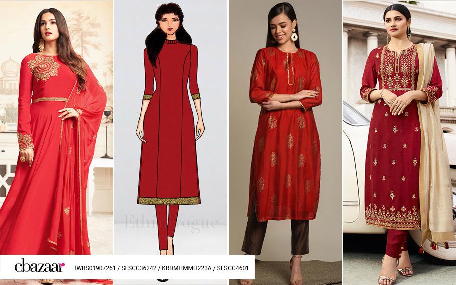 Sanguine Salwar Kameez Styles
