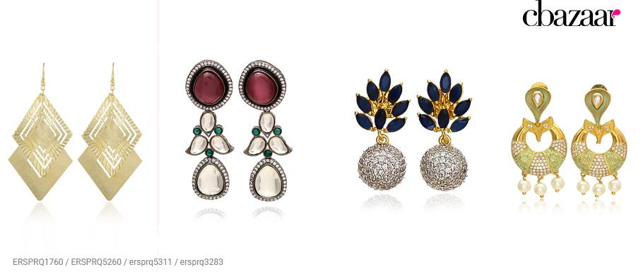 Indo-western earrings