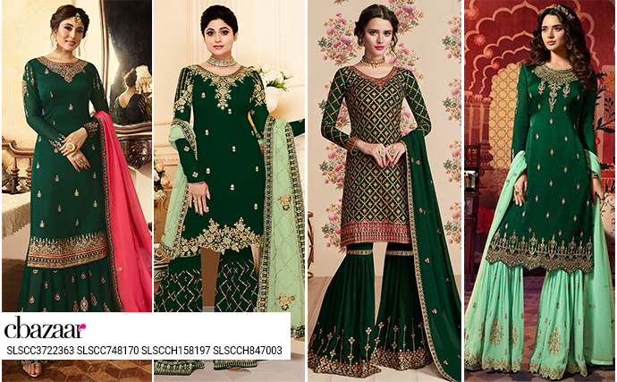Georgette in green is gorgeous!